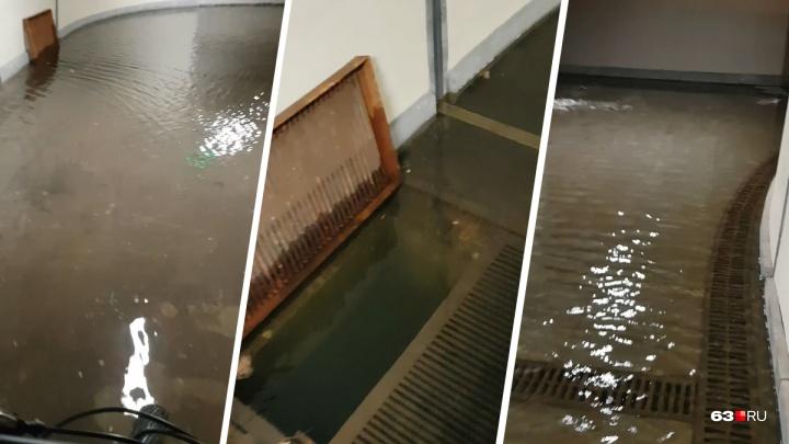 Не прошло и года: у «Самара Арены» снова затопило тоннель