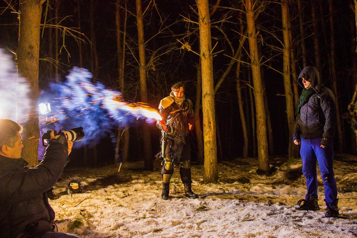 Ролик снимали в лесу за «Матрёшкиным двором»