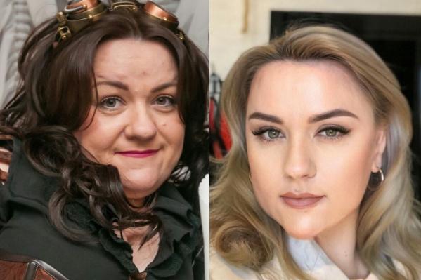 На фото Елена до и после пластики