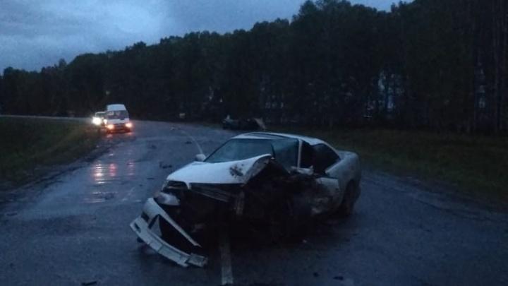 В Омской области водитель «девятки» погиб, выехав на полосу встречного движения