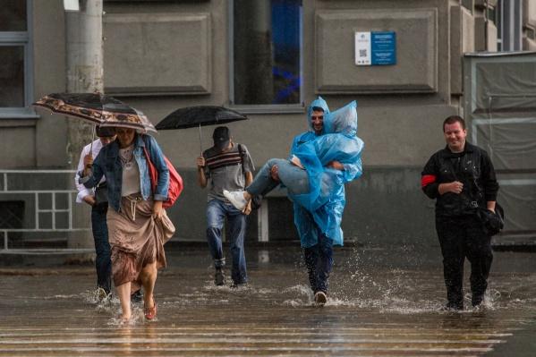 Синоптики прогнозируют дожди до начала следующей недели