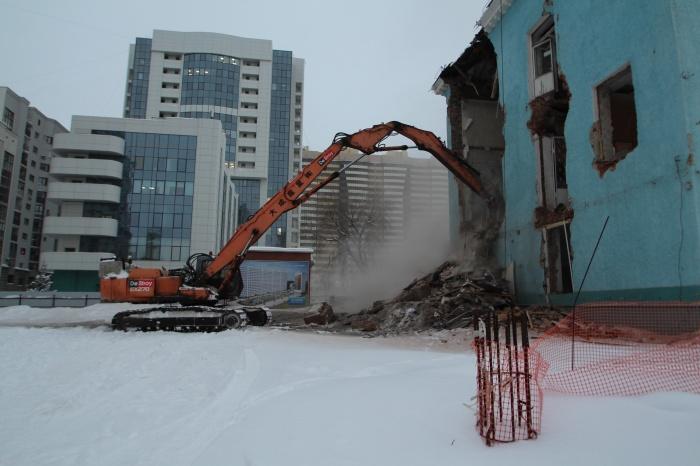Демонтаж начался 18 января