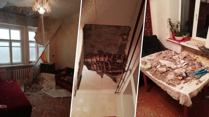 «Дом похож на декорацию к фильмам ужасов»: в двухэтажке на Загорской обвалилась крыша