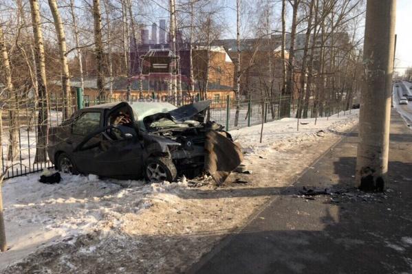 Авария произошла возле БСМП
