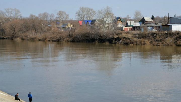 Уровень воды в Тоболе у Кургана за сутки снизился на семь сантиметров