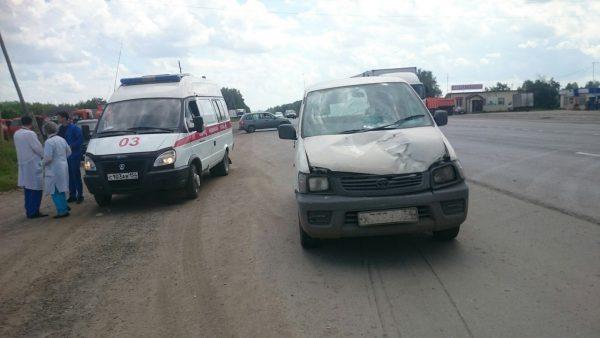 Водитель «Тойоты» сбил дорожного рабочего на трассе под Новосибирском