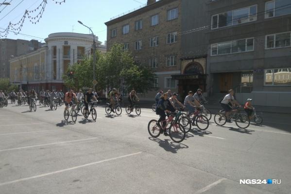 Второй городской велопарад состоялся в Красноярске