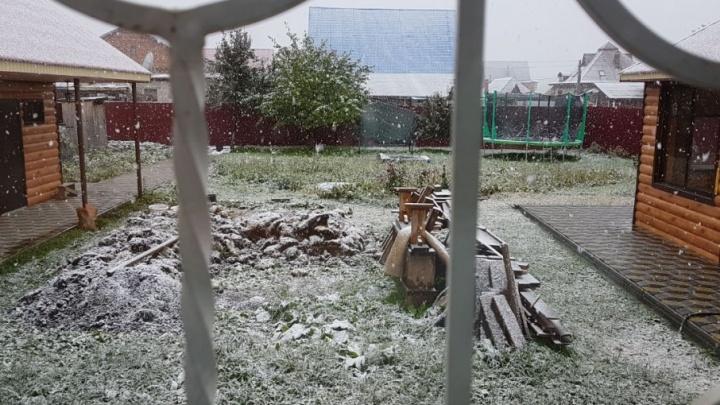В Башкирии выпал первый снег