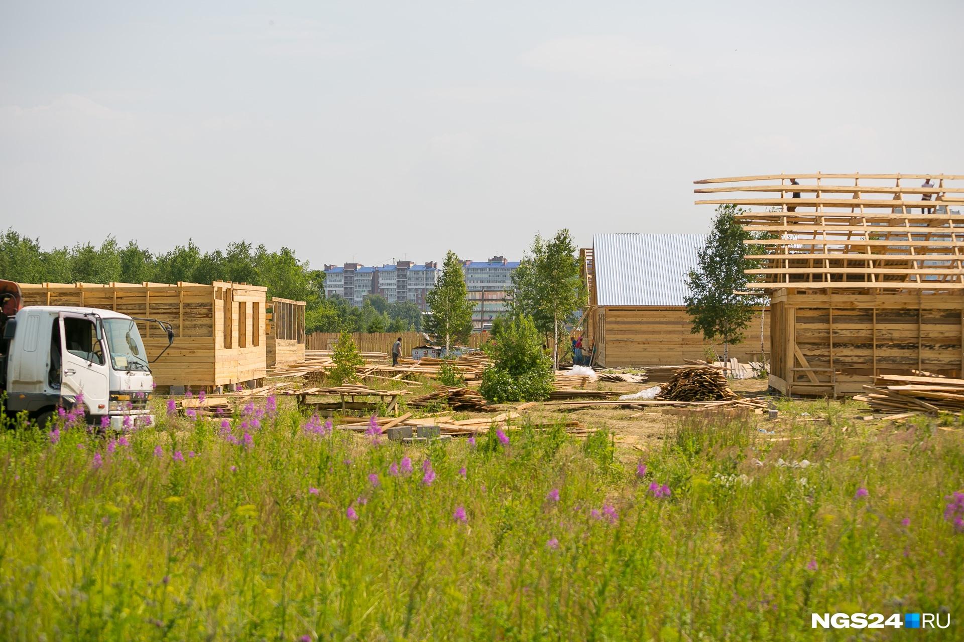 Цыгане строят щитовые дома без фундамента