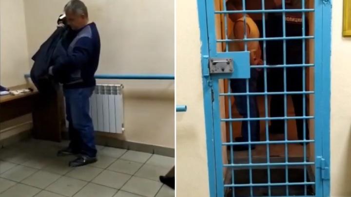 Опубликовано видео задержания управляющего отделением Пенсионного фонда в Красноярске
