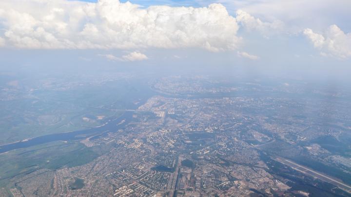 Фото дня. Нижний Новгород с высоты в несколько тысяч метров