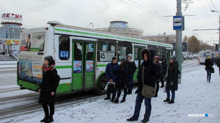Омичей в новогодние праздники вместо больших автобусов будут возить пазики