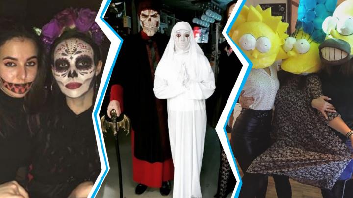 Тёмные ведьмы, призраки невест и Сипмсоны: смотрим, как Новосибирск праздновал Хеллоуин