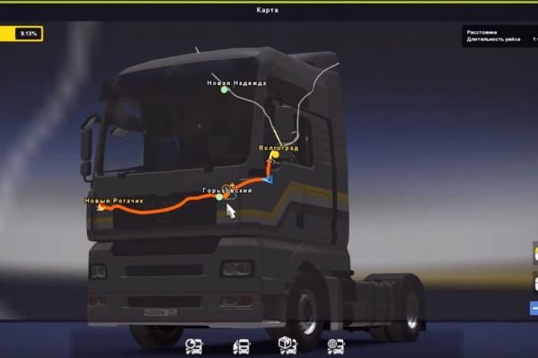 Карта Волгограда появилась в модификации для «Euro Truck Simulator-2»