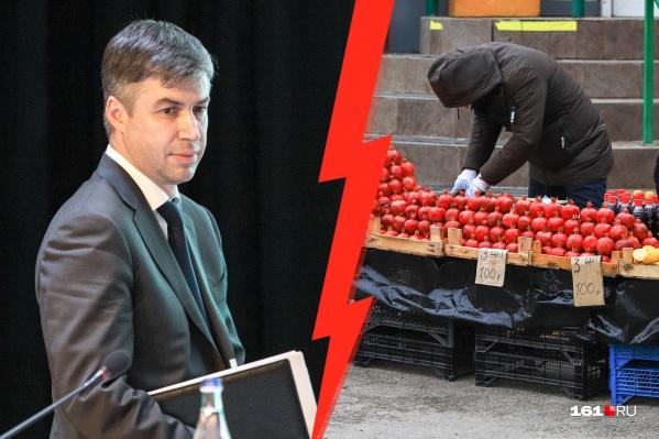 Алексей Логвиненко потребовал от чиновников быстрее придумать, как решить проблему незаконной торговли, учитывая интересы всех сторон