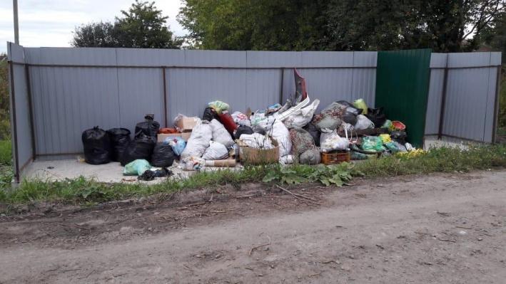 Одна из новых мусорных площадок, с которой пока никто не вывозит отходы