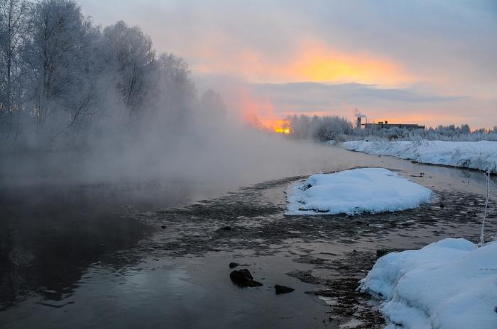 Начало зимы в Екатеринбурге было теплым, но к концу января ударили морозы