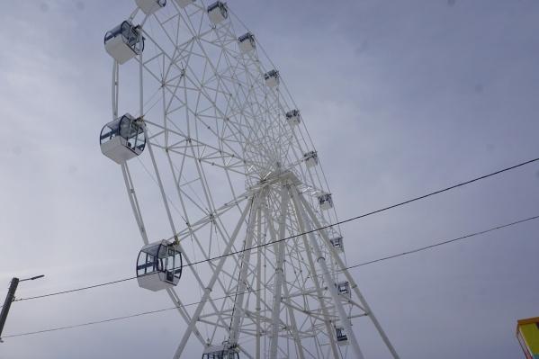 Новое колесо обозрения назвали первым подарком городу к его 65-летию