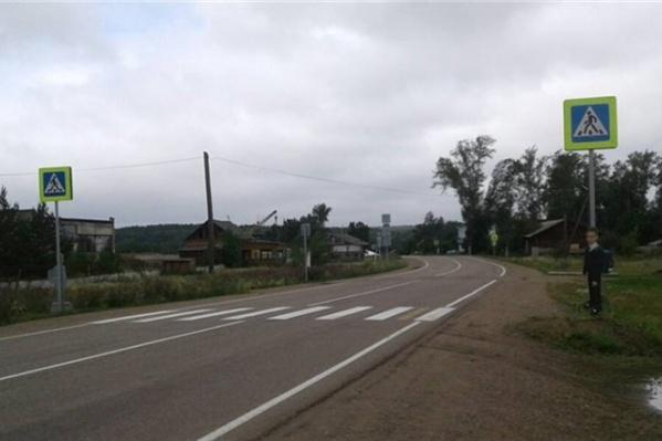 Макет школьника в форме уже был установлен в Казачинском районе