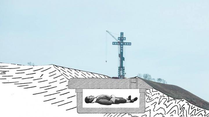 Нашел объяснение происходящему: общественник о происхождении креста на горе под Красноярском