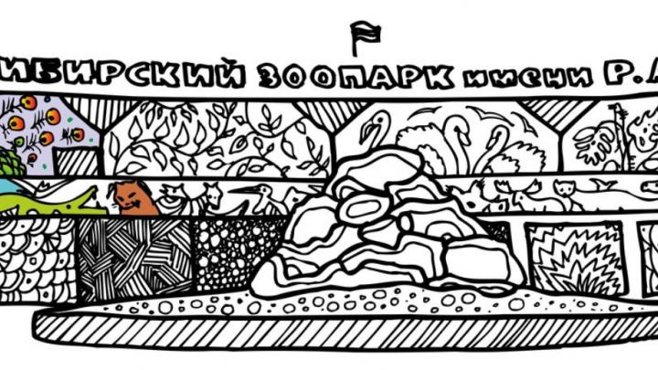 Соболя, зоопарк и Дом с часами: новосибирцы выпустили раскраску с символами города