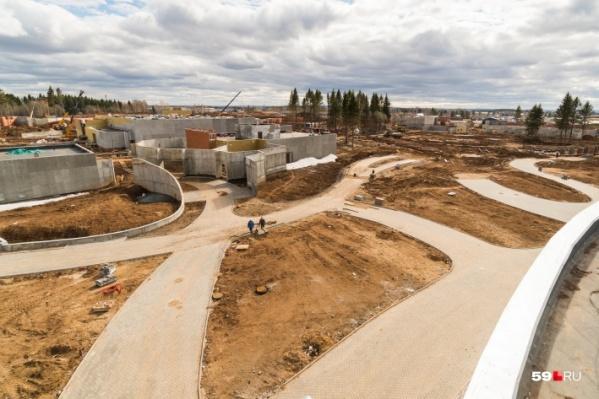 Это строительная площадка нового зоопарка