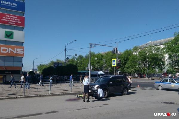 ДТП произошло 28 мая на пересечениипроспекта Октября и улицы Бессонова