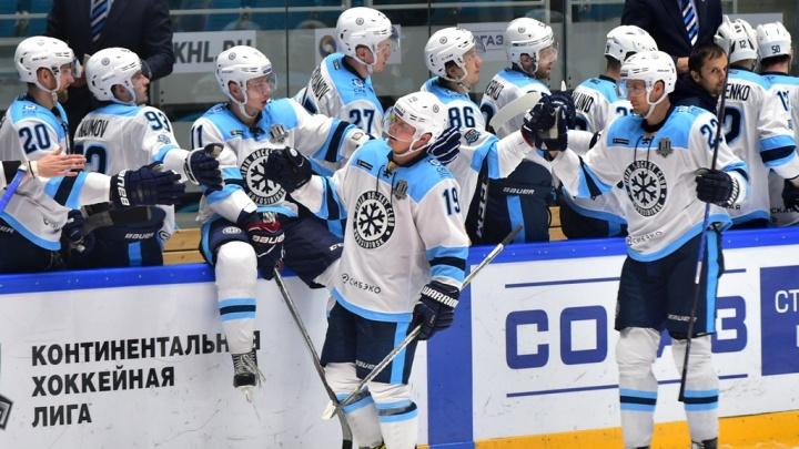 4:0: ХК «Сибирь» разгромил казахстанский «Барыс»