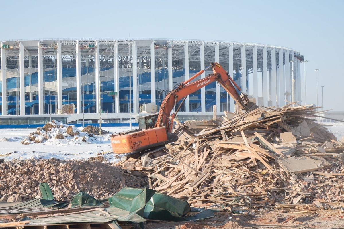 Пространство вокруг стадиона зачистили