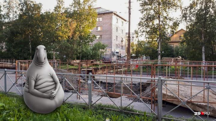 Потерпеть ещё день: ремонт теплотрассы на Обводном канале в Архангельске продлили до 17 июля