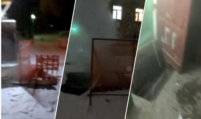 «Ситуация ухудшилась»: на Расточке вода из трубы несколько дней льётся под жилой дом