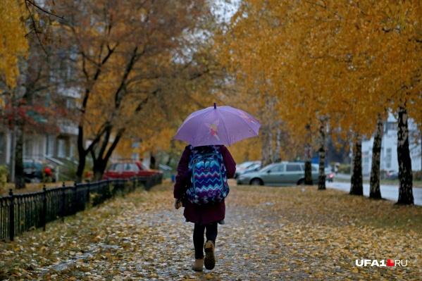 Однако от дождя никуда не скрыться