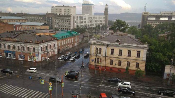 На Красноярск надвигается шторм