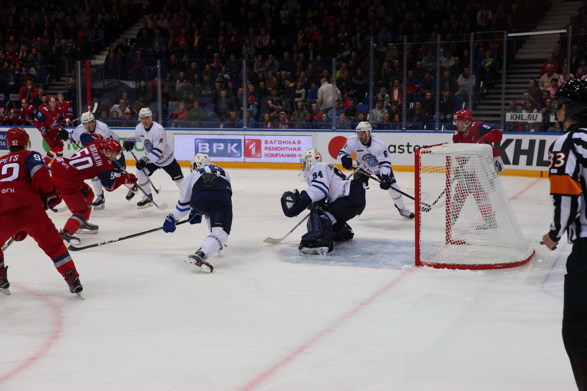 Единственную шайбу хоккеисты«Локомотива» забили в первом периоде