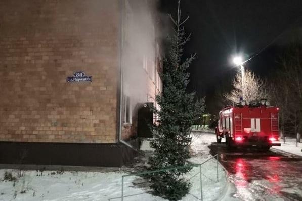 К приезду пожарных кадеты эвакуировались самостоятельно