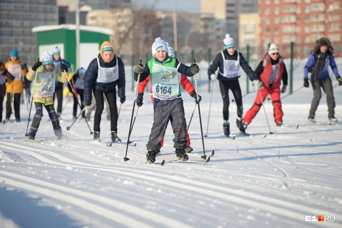 Школьники мужественно старались добежать до финиша