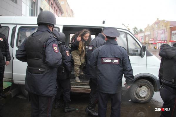 Елену Фокину задержали сразу после завершения митинга