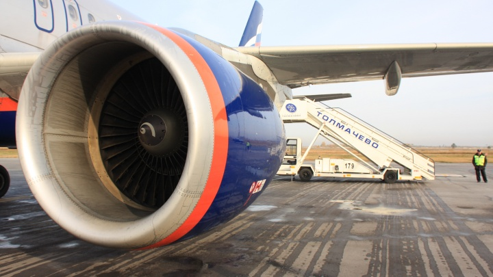 Экстренно севший в Толмачёво самолет долетел до Сеула