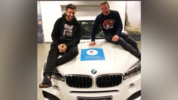 В помощь детям: хоккеист из Челябинска купил у Ильи Ковальчука «олимпийский» BMW
