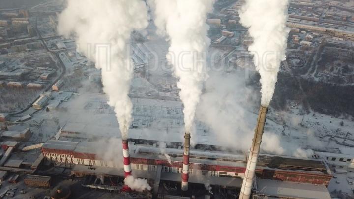 Красноярец показал, как выглядит дым из труб на предприятиях с высоты
