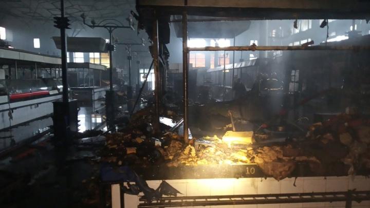 В Ярославле сгорел Дзержинский рынок:что от него осталось. Фото и видео изнутри