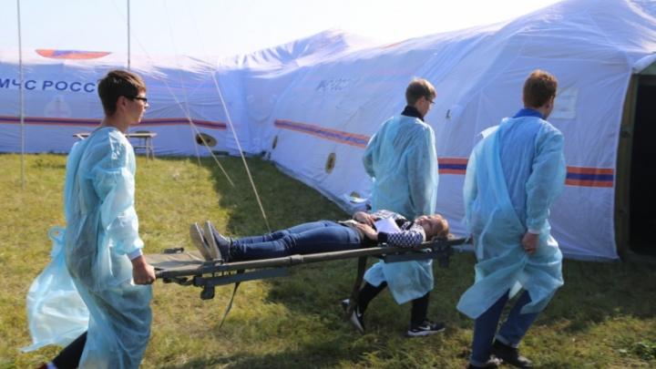 Спасатели учились помогать красноярцам после «катастрофы» с большим числом жертв