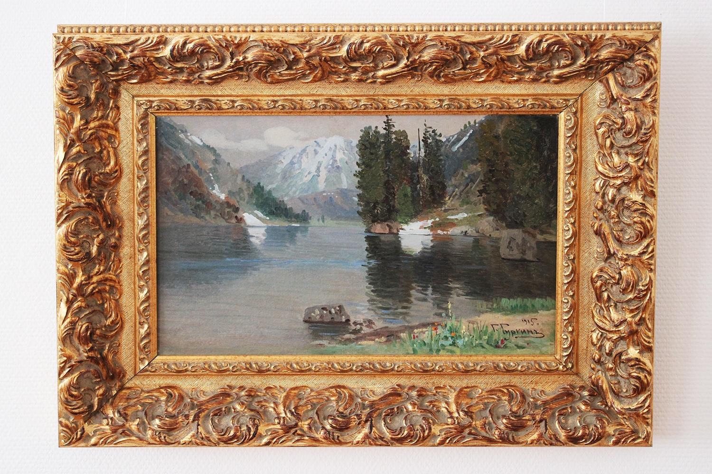 Жемчужинами экспозиции стали две картины: пейзаж Григория Чорос-Гуркина...