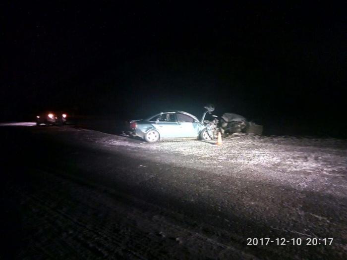 Авария случилась на встречной полосе