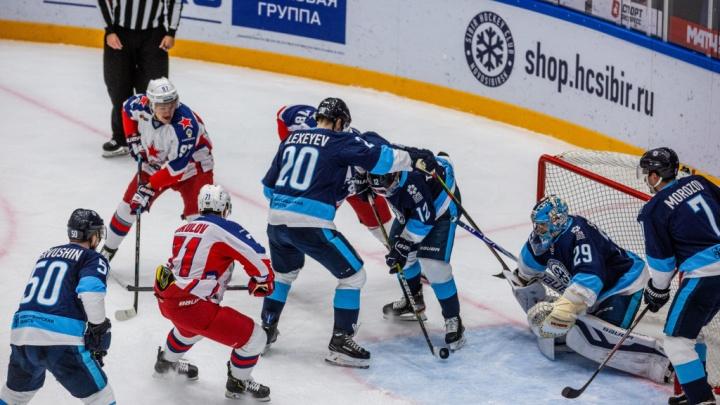 Подарок для болельщиков: ХК «Сибирь» отпраздновал день рождения блестящей победой над ЦСКА