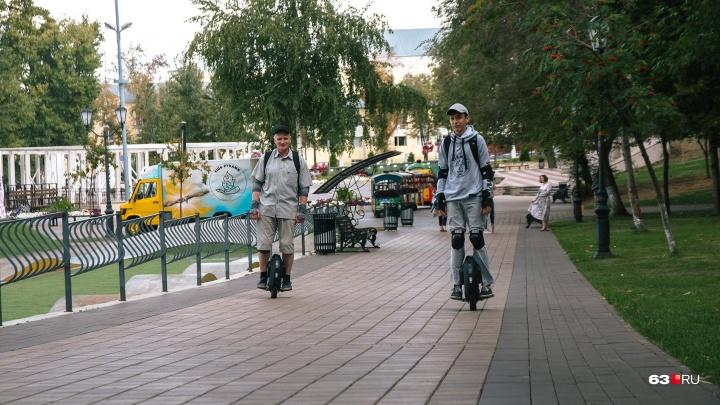 «Можем разогнаться до 35 км в час»: в Самаре появился необычный городской транспорт
