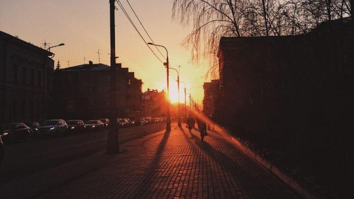 После небольшого похолодания в Красноярск придет очень теплая погода с дождями