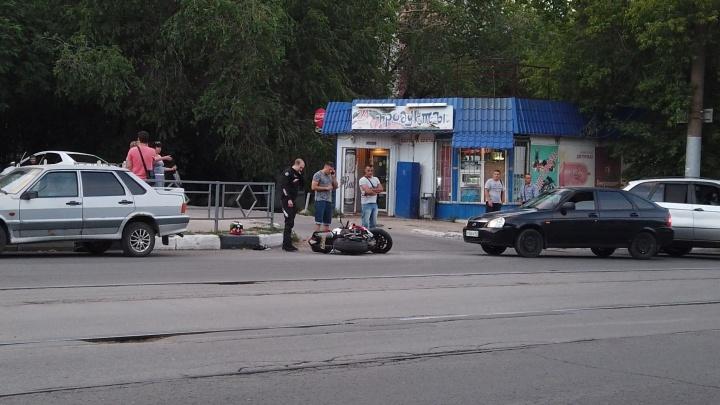 В Самаре на улице Аэродромной сбили мотоциклиста