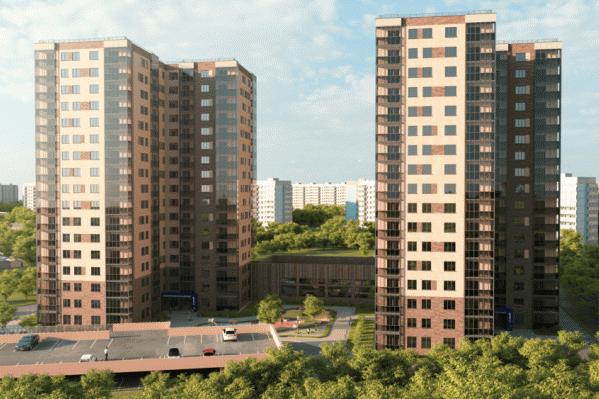 В комплексе будет два 17-этажных дома, 2-этажное здание бассейна и паркинг