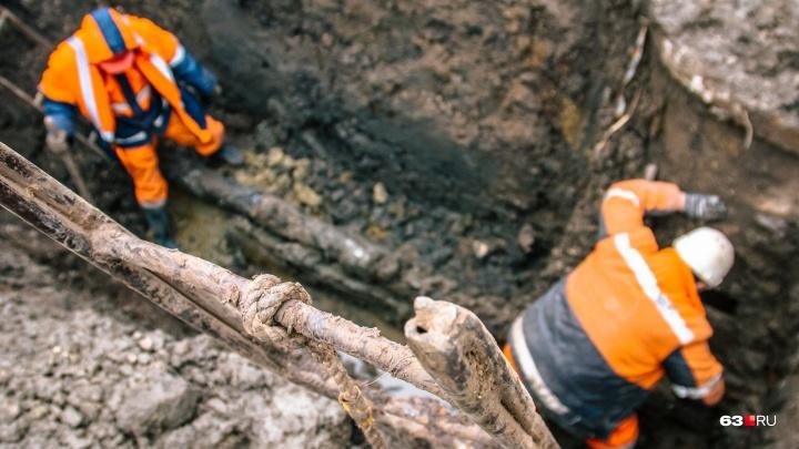 В Самаре 141 жилой дом на сутки оставили без холодной воды из-за ремонта труб